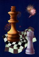 Schach Chess Ajedrez échecs - AK - Mit Schach-Diagramm Auf Der Rückseite - Chess