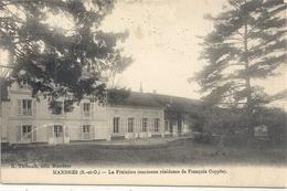 MANDRES . LA FRAIZIERE (ancienne Residence De FRANCOIS COPPEE ) + TAMPON DES POSTES & ARMEES . 2 SCANES - Mandres Les Roses