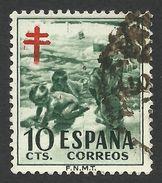 Spain, 10 C. 1951, Sc # RA33, Used - Bienfaisance