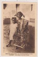 AFRIQUE DAHOMEY,danhomé 1900,sud Est Bénin Actuel,royaume Africain,Ouidah,maman Et Sa Fille,rare - Benin