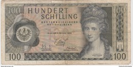 AUTRICHE 100 Schillings 1969 P145a VG+ - Autriche