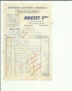 Facture De BAUZET Freres Station-Service Diesel-Agence Fulmen A Bayonne  64 Adressé A Entreprise Talpone A Anglet 1965 - 1950 - ...