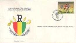 BUZIN / FDC OFFICIEL COMITE INTERNATIONAL OLYMPIQUE / RWANDA 1984 / COB 1214 - 1985-.. Birds (Buzin)
