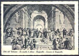1937 , VATICANO , TARJETA  POSTAL CIRCULADA A BRESLAU , LA ESCUELA DE ATENAS DE RAFAEL - Vaticano (Ciudad Del)