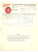 "Enveloppe + Facture - Chaussures "" ROBINSON ""  NIJMEGEN - Schoenfabriek Frans Verschuur 1933 (b209) - België"
