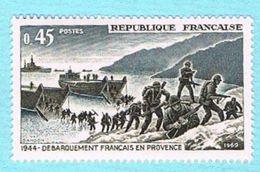 FRANCE NEUF 1969 - Y&T 1605 - 045c - Débarquement En Provence - Unused Stamps