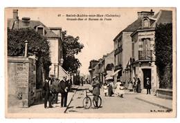 14 - SAINT-AUBIN-SUR-MER . GRANDE-RUE ET BUREAU DE POSTE - Réf. N°3839 - - Saint Aubin