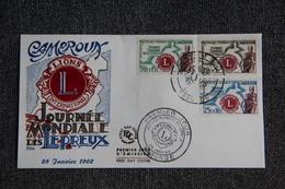 FDC  - 1er Jour D'Emission - CAMEROUN, LIONS International, Journée Mondiale Des Lépreux. - Kameroen (1960-...)