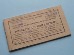 RETRAITE DU COMBATTANT N° 8966 ( Baudry Grignon ) Côte D'Or DIJON France : Anno 1950 ( Zie Foto´s Voor Detail ) ! - Documenten