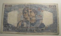 1946 - France - 1000 FRANCS, Minerve Et Hercule,  A.11-7-1946.A. Q.289  73688 - 1871-1952 Anciens Francs Circulés Au XXème