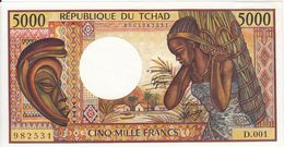 * CHAD 5000 FRANCS ND (1984) P-11a UNC [TD211a] - Chad