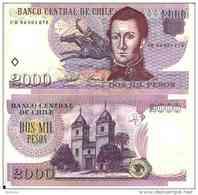 CHILI - CHILE  2000 PESOS (2004) Pick 160a NEUF - UNC - Chili