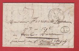 Lettre  / De Coutances /  Pour Saint Jean D'Angély / 1 Décembre 1839 - Storia Postale