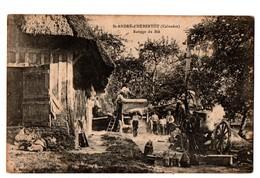 14 - Saint-André-d'Hébertot . Battage Du Blé - Réf. N°3848 - - France