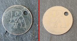Jeton De Caddie Métal - PA (à Identifier)  - Simple Face Gravure Laser - Jetons De Caddies