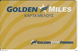 GREECE - Golden Star Ferries, Member Card, Sample - Hotelkarten