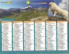 Calendrier Du Facteur 2016 - Chien De Montagne Des Pyrénées Et Golden Retriever - Calendriers