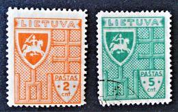 SERIE COURANTE 1936 - NEUF */O - YT 353/54 - Lithuania