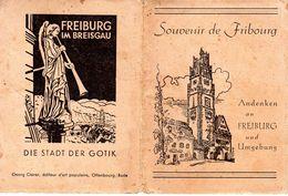 Souvenir De Fribourg Andenken An Freiburg Und Umgegung / 12 Bild / 11 X 8 Cm Freiburg Im Breisgau - Freiburg I. Br.