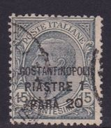 Italy-Italian Offices Abroad-European And Asia Offices-Constantinople S42 1922 1,20 Piastre On 15c Gray Used - 11. Foreign Offices