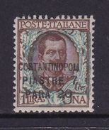 Italy-Italian Offices Abroad-European And Asia Offices-Constantinople S45 1922 7,20 Piastre On 1 Lira Brown And Green MH - 11. Foreign Offices