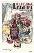 LIQUEURS LEBERT AMBOISE - Werbepostkarten