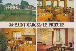 D36 - SAINT MARCEL - LE PRIEURE - HOTEL RESTAURANT - R. PAVY PROPRIETAIRE CHEF DE CUISINE - MULTIVUES CPSM Grand Format - Frankreich