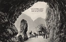 ALGERIE - ROUTE DE BOUGIE A DJIDJELI ENTREE DE LA MERVEILLEUSE GROTTE DE DAR EL OUED - Bejaia (Bougie)