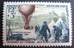 LOT DF/257 - 1955 - JOURNEE DU TIMBRE - 85e ANN. DE LA POSTE AERIENNE - N°1018 NEUF* - France