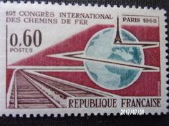 N°1488 Congrès Des Chemins De Fer Paris 1966 - Trains