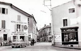 """LEZOUX - Café Restaurant """"Chez Nègre"""" - Place Rimbert - Très Beau Plan Animé - CPSM Format CPA - Lezoux"""
