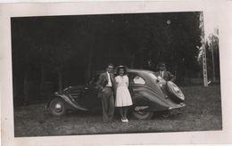 Photo Originale THANN  Alsace Militaria 1945 Auto à Identifier Peugeot - Automobile