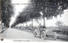 Saint-Amant-Tallende, Canton Des Martres De Veyre - Voiture De Course, Allée De Saint-Saturnin - Très Beau Plan Animé - France