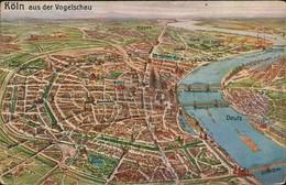 Ansichtskarte Köln Aus Der Vogelschau 1913 - Koeln