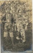 Real Photo Bagobo Man And Woman Tribe Near Davao , Mindanao Lance - Philippinen