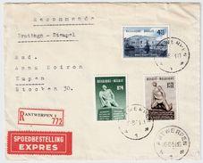 1951, COB No. 860-62, FDC , Euro 125.-    , #8586 - ....-1951