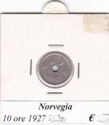 NORVEGIA   10 ORE   ANNO 1927  COME DA FOTO - Norvegia