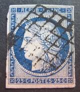 LOT DF/279 - CERES N°4a Bleu Foncé - GRILLE NOIRE - Cote : 70,00 € - 1849-1850 Cérès