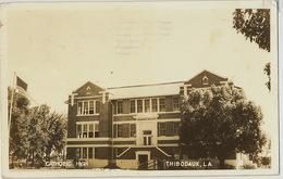 Real Photo Thibodaux Louisiana Catholic High College  1944 Censor To Santa Clara Cuba - Etats-Unis