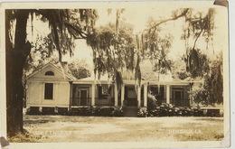 Real Photo Thibodaux Louisiana Governor F.T. Nickols Residence Born In Donaldsonville  1944 Censor To Santa Clara Cuba - Etats-Unis