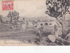 Carte Postale  ---- Animée --- GAFFOUR Tunisie - Pont Sur L'Oued Mélah - Tunisie