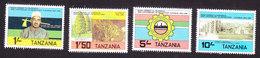 Tanzania, Scott #237-240, Mint Hinged, 20th Anniversary Of Revolution, Issued 1984 - Tanzania (1964-...)