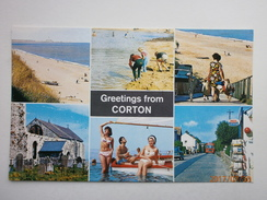 Postcard Greetings From Corton Suffolk Multiview My Ref  B11553 - Autres