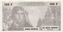 BANQUE ENFANTINE LES JOUETS TRANSCAR 100F BONAPARTE - Specimen