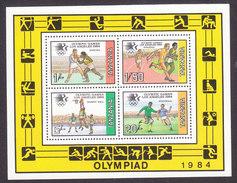 Tanzania, Scott #245a, Mint Never Hinged, 1984 Summer Olympics, Issued 1984 - Tanzania (1964-...)