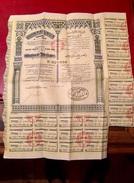 GOUVERNEMENT  TUNISIEN   EMPRUNT  4 1/2%  1932  ------    Obligation   De  1.000 Frs - Aandelen