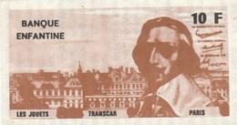 BANQUE ENFANTINE LES JOUETS TRANSCAR 10F RICHELIEU - Specimen