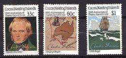 Cocos (Keeling) Islands, 1982, SG 152 - 154, Set Of 3, MNH - Cocos (Keeling) Islands