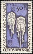 Czechoslovakia / Stamps (1962) 1227: Sport - 15th Race Of Peace (Cyclists); Painter: Jan Cerny - Cyclisme