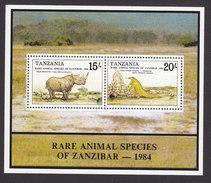 Tanzania, Scott #262, Mint Never Hinged, Rare Species, Issued 1985 - Tanzania (1964-...)